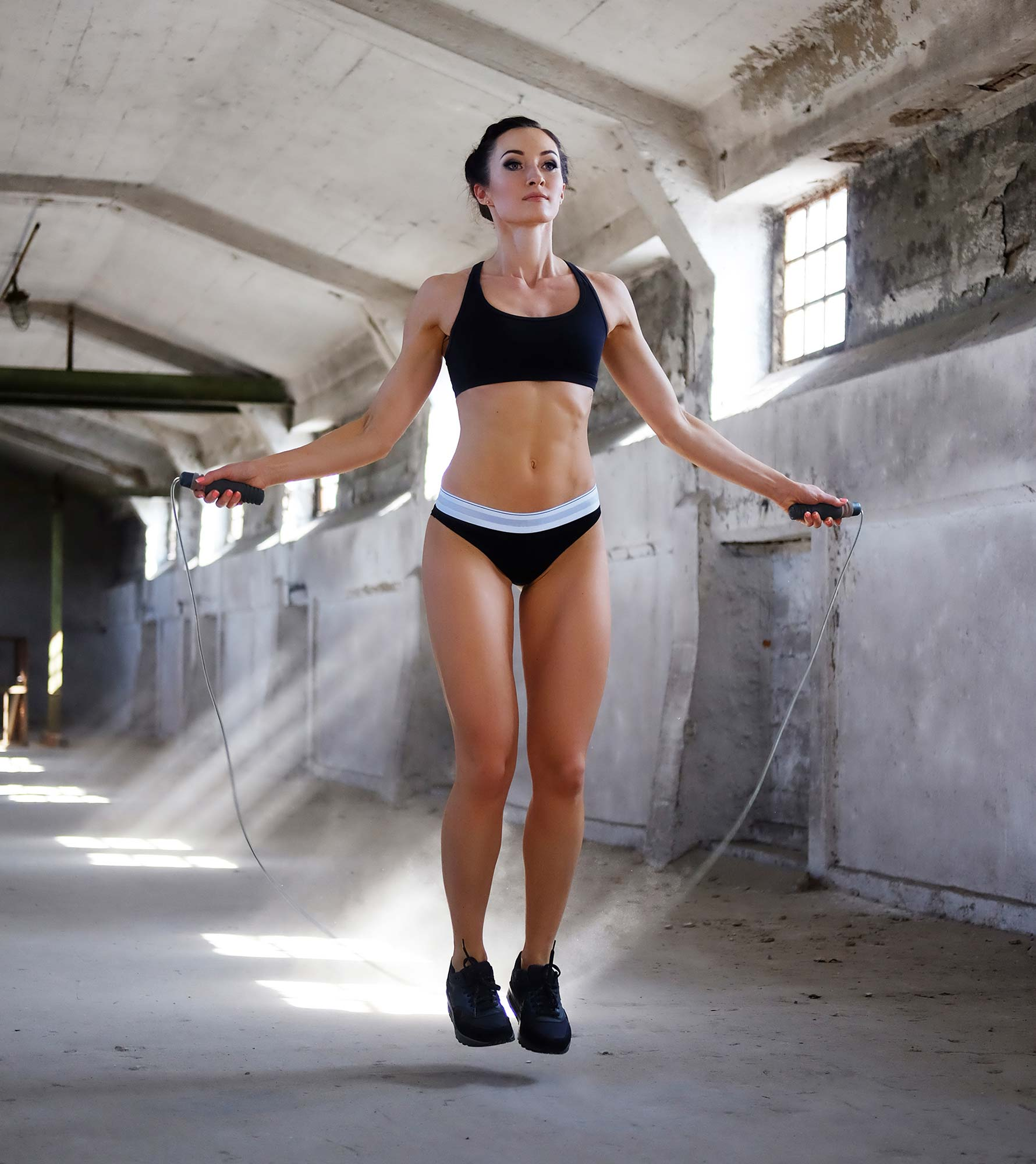 double under jump rope starting position